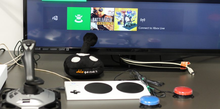 Xbox adaptive controller with switches