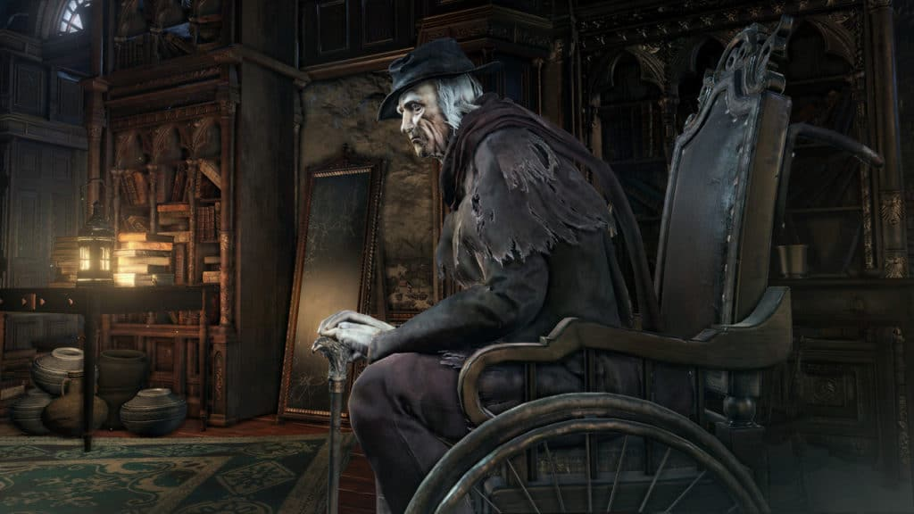 bloodborne weheelchair Hunter