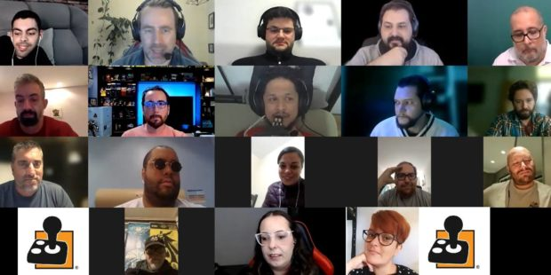 A screen shot of the AblGamers Brazil founding meeting there are 18 in attendance